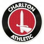 Charlton Athletic FC logo machine embroidery design for instant download