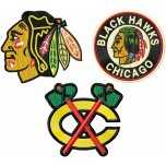 Chicago Blackhawks Logos Machine Embroidery Design for instant download