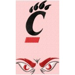 Cincinnati Bearcats logo machine embroidery design for instant download
