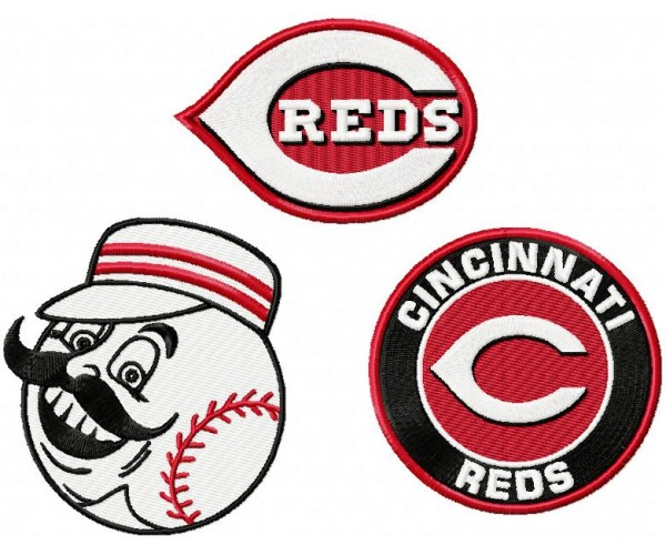 Home u00bb Cincinnati Reds logo machine embroidery design for instant ...