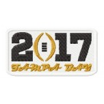 College Football Playoff 2017 logo machine embroidery design for instant download