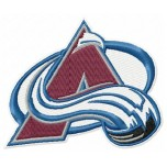 Colorado Avalanche logo machine embroidery design for instant download