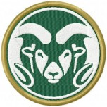 Colorado State Rams logo machine embroidery design for instant download