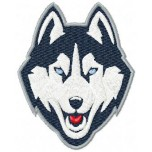 Connecticut Huskies logo machine embroidery design for instant download