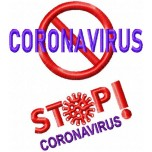 Stop Coronavirus machine embroidery design for instant download