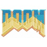 DOOM logo machine embroidery design for instant download