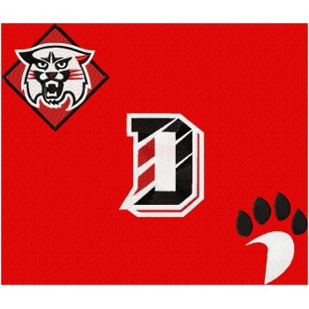 Davidson Wildcats logo machine embroidery design for instant download