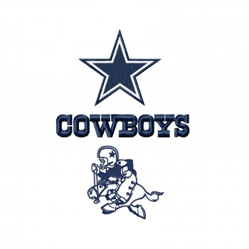 Dallas Cowboys Logos Machine Embroidery Design For Instant