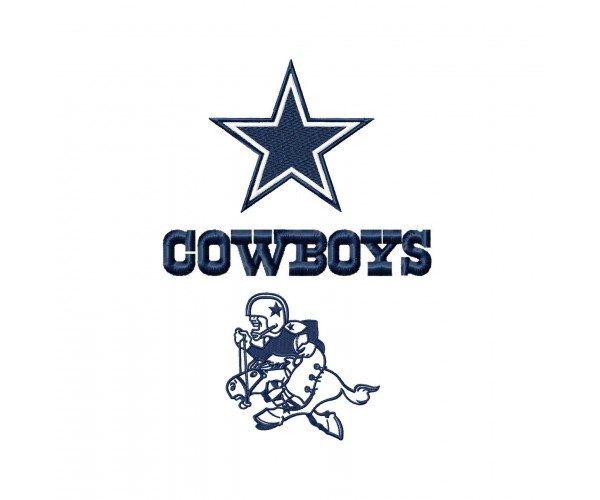 Dallas Cowboys Logos Machine Embroidery Design For Instant Download