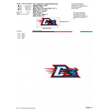 DePaul Blue Demons logos machine embroidery design for instant download