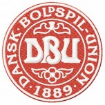 Denmark national football team logo machine embroidery design for instant download