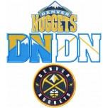 Denver Nuggets logos machine embroidery design for instant download