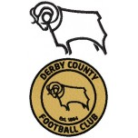 Derby County F.C. logos machine embroidery design for instant download