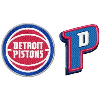 Detroit Pistons logos machine embroidery design for instant download