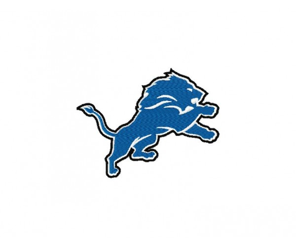Detroit lions logos machine embroidery designs for