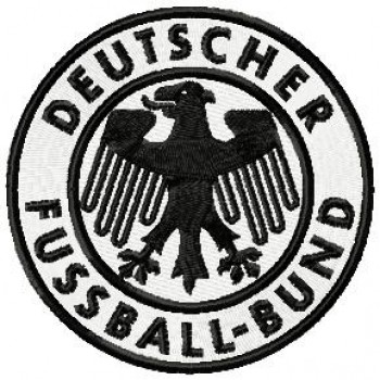 Deutscher Fussball-Bund logo machine embroidery design for instant download