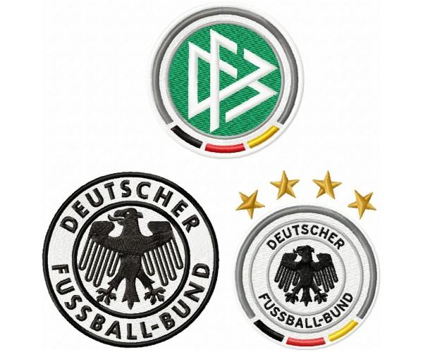Deutscher Fussball Bund Logo Machine Embroidery Design For Instant Download