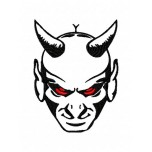 Devil with red eyes Machine Embroidery Design for instant donload