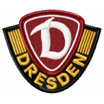 Dinamo Dresden FC logo machine embroidery design for instant download