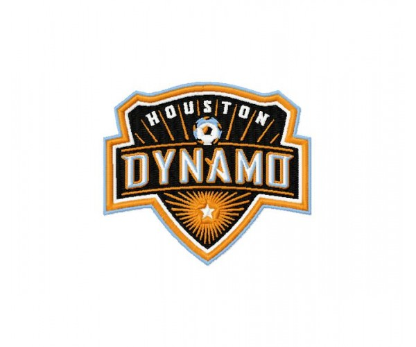 Houston Dynamo soccer club 3 logos machine embroidery ...