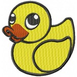 Duckling machine embroidery design for instant download