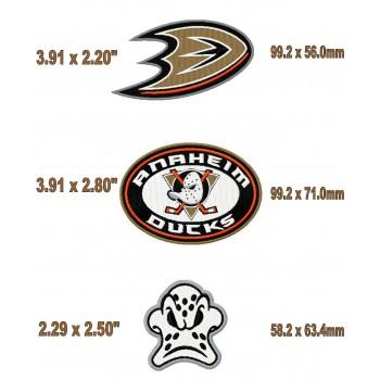 Anaheim Ducks 3logos machine embroidery design for instant download