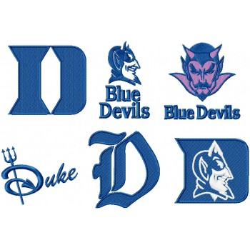 Duke University Blue Devils 6 logos machine embroidery design for instant download