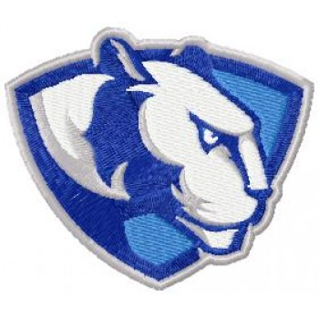 Eastern Illinois University Panthers logo machine embroidery design for instant download