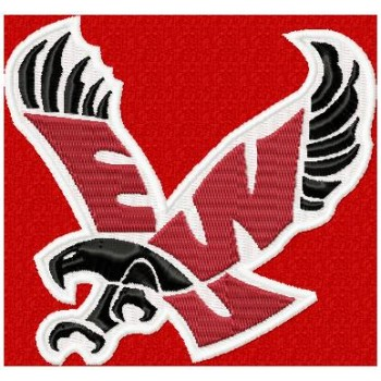 EWU Eagles logo machine embroidery design for instant download