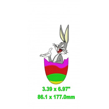 Easter Bunny Machine Embroidery Design for instant download