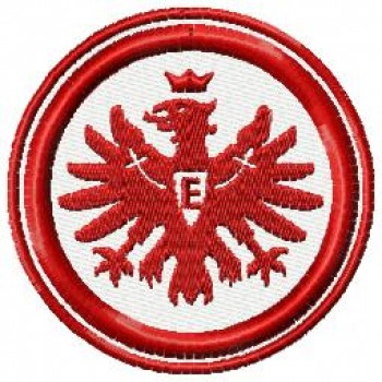 Eintracht Frankfurt FC logo machine embroidery design for instant download