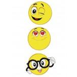 Emoticons 3 aplique machine embroidery design for instant download
