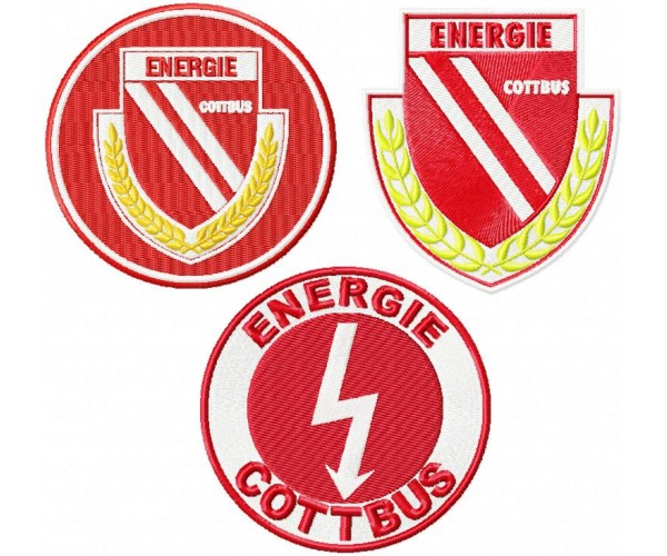 energie cottbus fc logo machine embroidery design for