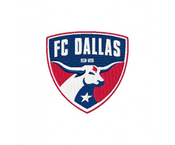 FC Dallas soccer club 3 logos mashine embroidery design for