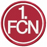 FC Nurnberg logo machine embroidery design for instant download