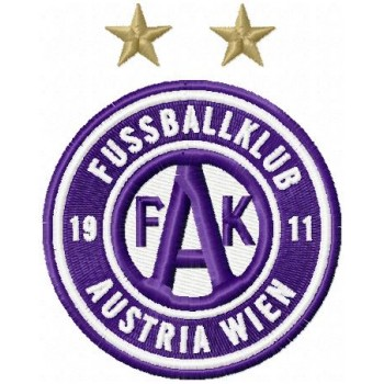 FK Austria Wien logo machine embroidery design for instant download