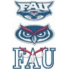 Florida Atlantic Owls logos machine embroidery design for instant download