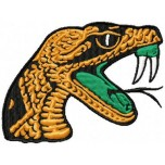 Florida A and M Rattlers logo machine embroidery design for instant download