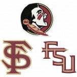 Florida State Seminoles logo machine embroidery design for instant download