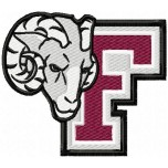 Fordham Rams logo machine embroidery design for instant download