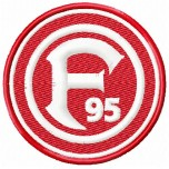 Fortuna Dusseldorf FC logo machine embroidery design for instant download