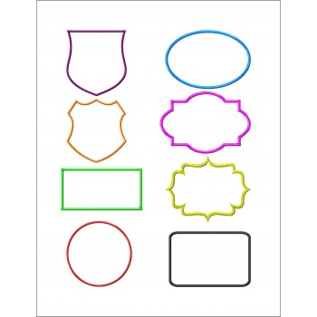 Frames aplique machine embroidery designs for instant download