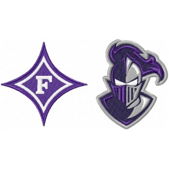 Furman Paladins logo machine embroidery design for instant download