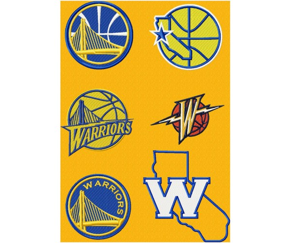 Golden State Warriors Machine Embroidery Design