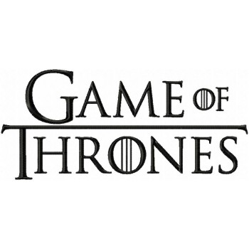 Game of Thrones logo machine embroidery design for instant download