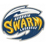 Georgia Swarm logo machine embroidery design for instant download
