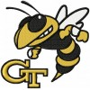Georgia Tech Yellow Jackets logo machine embroidery design for instant download
