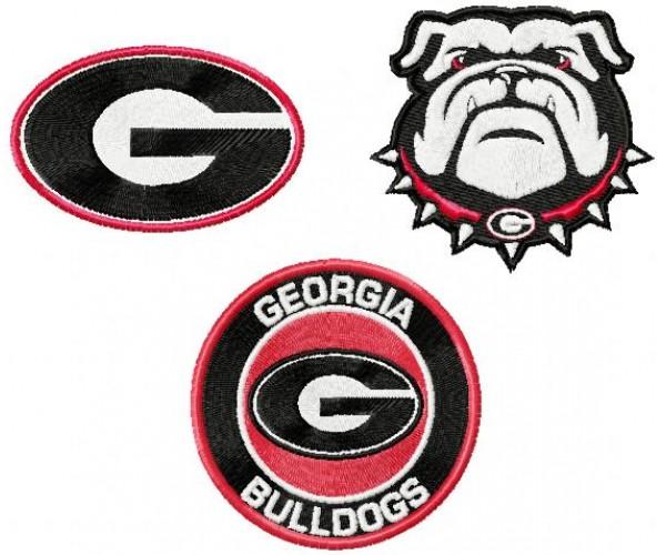 Georgia Bulldogs Logos Machine Embroidery Design For