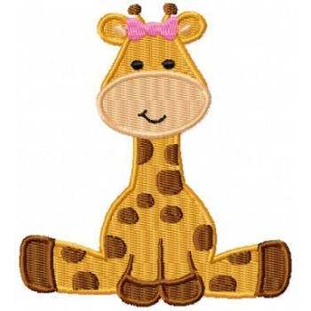 Giraffe machine embroidery design for instant download