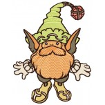 Gnome machine embroidery design for instant download